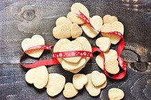 Shortbread cookies & ribbon