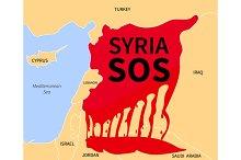 Syria Crisis Sos. Refugee. War Victi
