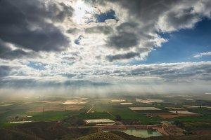 Fields cultivated in Murcia, Spain