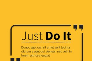 Phrase Just Do It in Isolation Quote