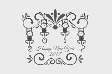 New Year Vector Item
