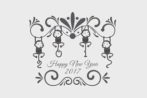 New Year Vector Item