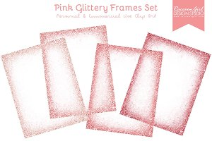 Pink Glittery Frames Set