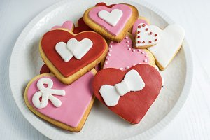 Cookies with heart shape