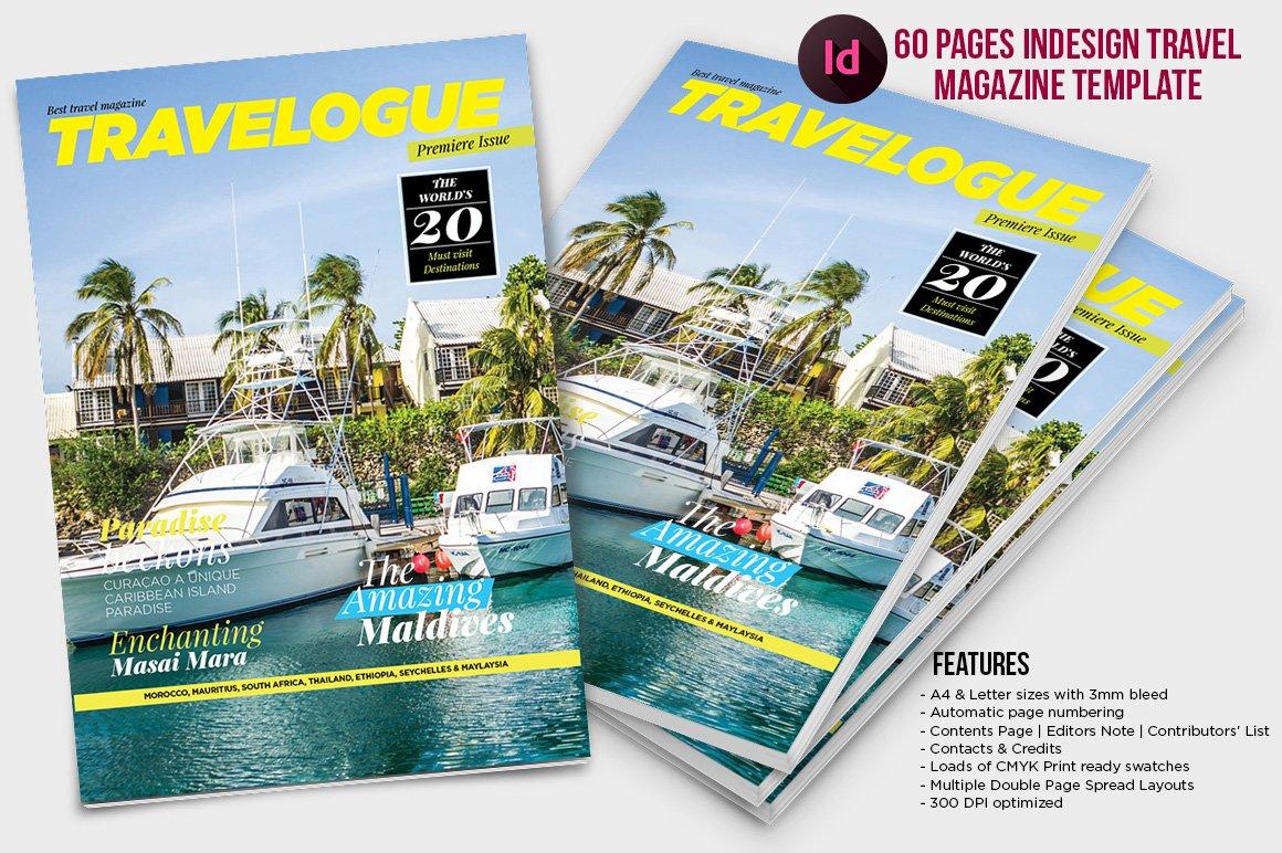 Indesign Travel Magazine Template ~ Magazine Templates ~ Creative Market