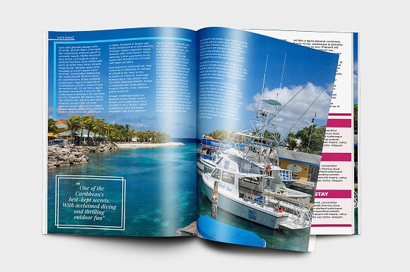 Indesign Travel Magazine Template Magazine Templates Creative Market
