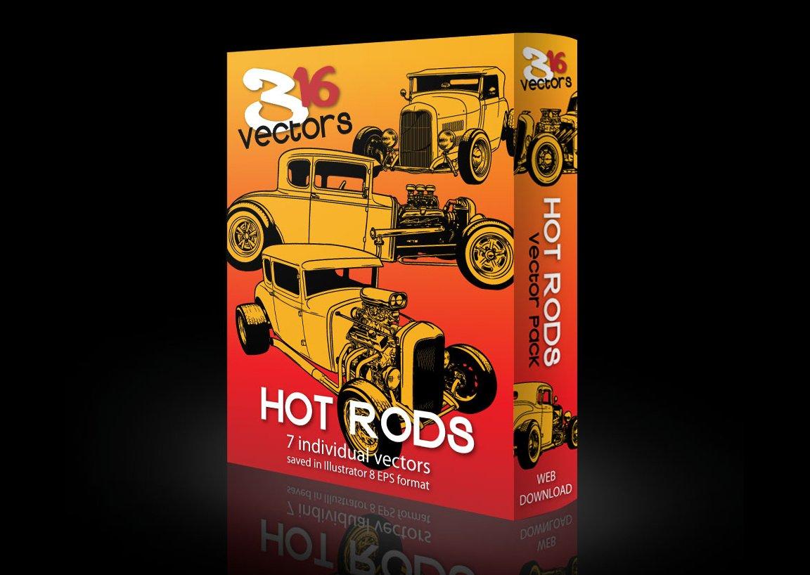 316 Vectors HOT RODS ~ Illustrations ~ Creative Market