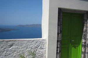 Door to the sea in Santorini
