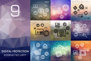 9 Digital Protection infographics