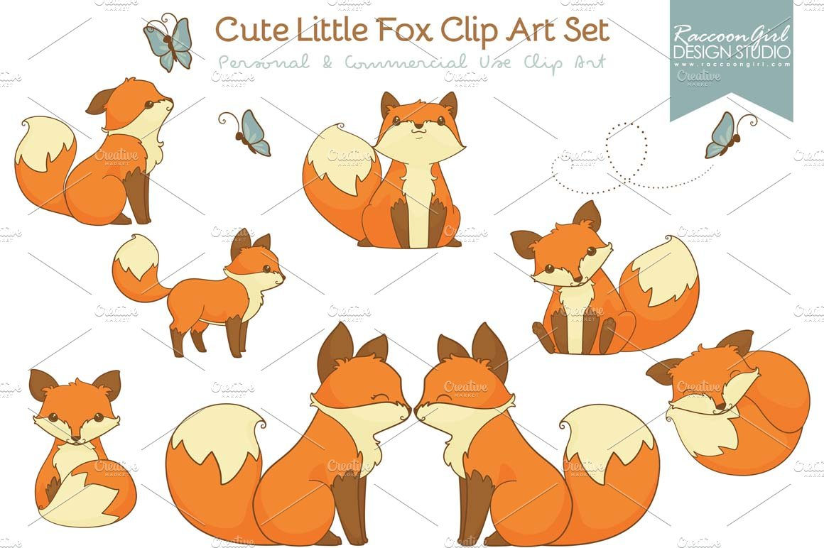 Cute Fox Clipart Clipart Ideas Reviews