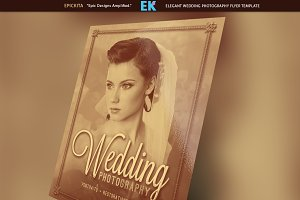 Elegant Wedding Photography Flyer