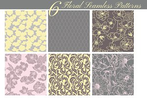 Collection of 6 floral patterns