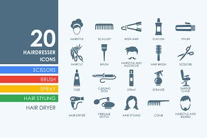 20 Barber Shop icons