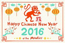 Chinese 2016 New Year monkey