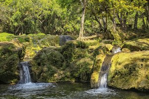 Waterfalls at the Banos de San Juan