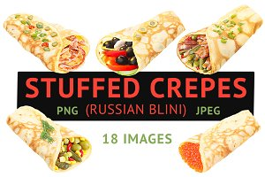 Stuffed Crepes (18 images)