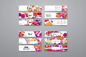 12 Colourful flyers