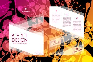 Brochures with abstract background