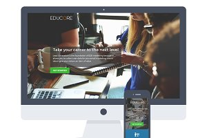 Educore Course Training Landing Page