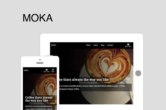 Moka - HTML Template