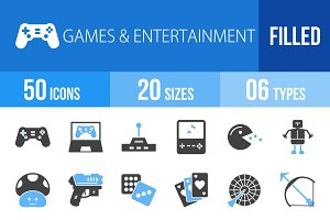 50 Games Blue & Black Icons