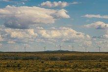 windy mill on the field