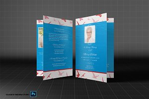Funeral Program Template - Bird