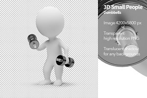 3D Small People - Dumbbells