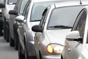 Morning traffic jam in Kiyv
