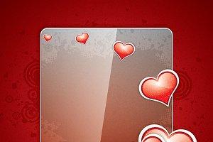 Red grunge valentine background