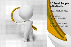 3D Small People - Holds a Magnifier