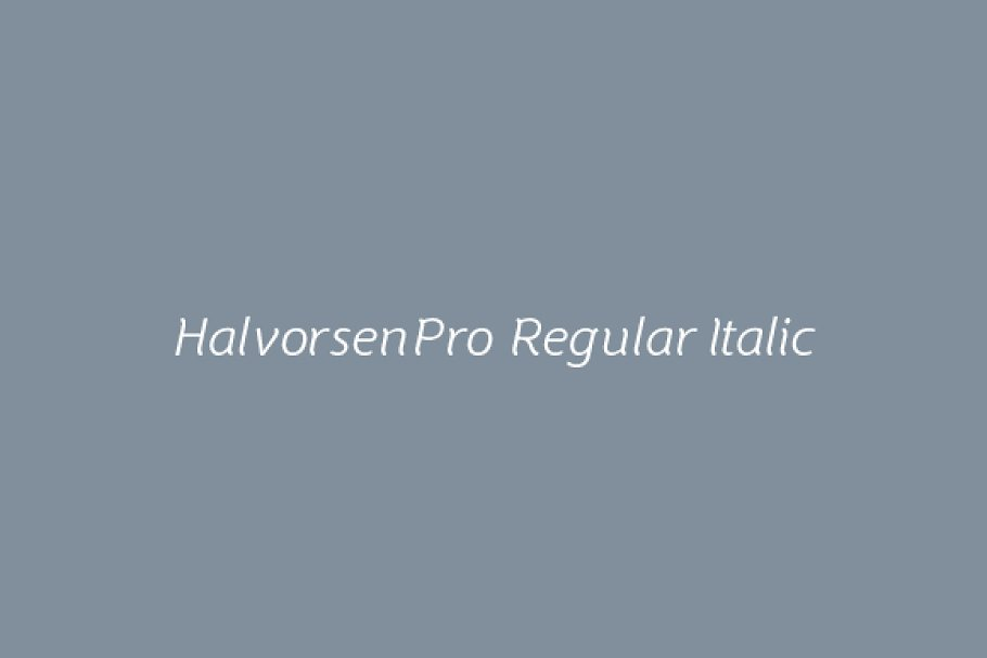 Best HalvorsenPro Regular Italic Vector