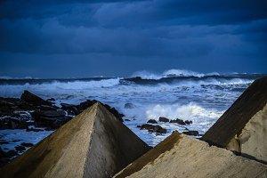 Rugh sea
