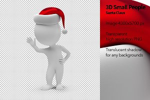 3D Small People - Santa Claus