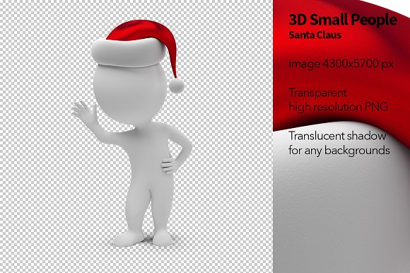 3D Small People - Santa Claus - Illustrations
