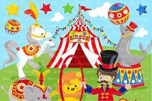 Clipart, Circus Clip art AMB-1158
