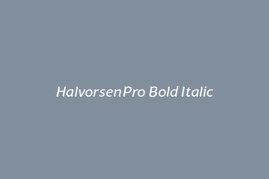 HalvorsenPro Bold Italic