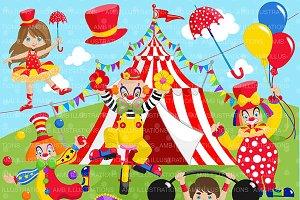 Clipart, Circus Clip art 2, AMB-1160