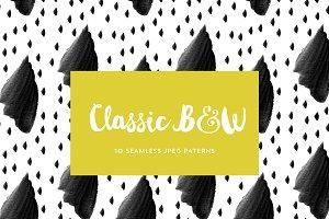 Classic B&W Seamless Patterns