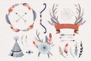 Tribal boho clip art
