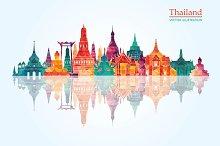 Thailand detailed skyline.