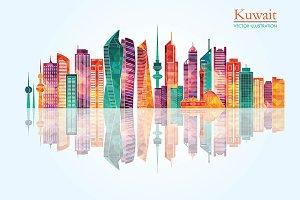 Kuwait City detailed skylines
