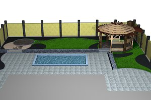 Backyard isometric view