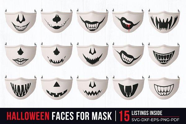 Funny Face Mask Svg Bundle Pre Designed Illustrator Graphics Creative Market