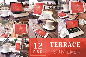 12 PSD Mockup Bundle Terrace