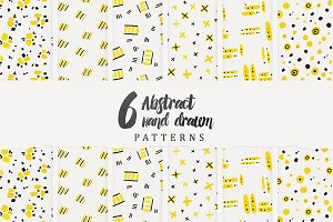 6 Abstract Hand Drawn Pattens
