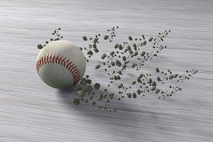 Fast rolling baseball