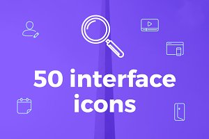 50 Interface icons pack, icons set