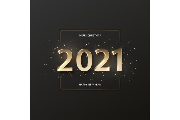 happy new year 2021 banner pre designed vector graphics creative market happy new year 2021 banner