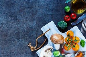 Vegetables on marbre